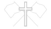 19 croix drapeaux