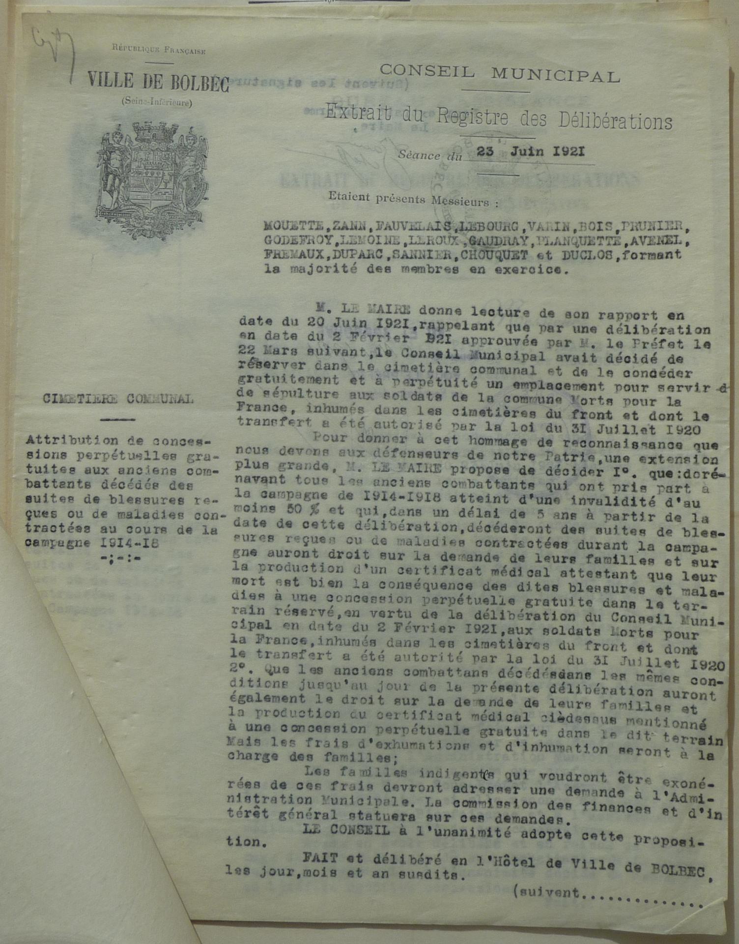 19210623 deliberation cm