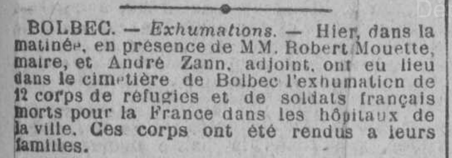 19220430 bolbec exhumations 12 corps