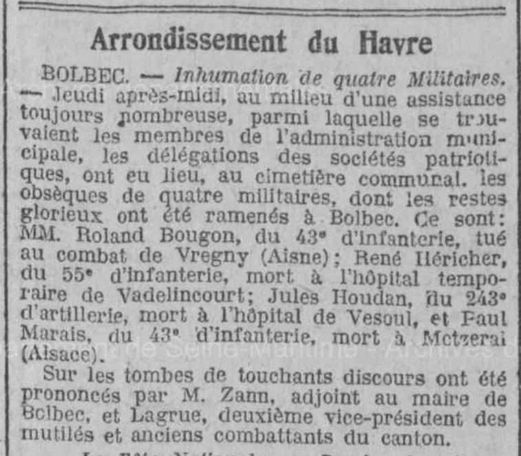 19220716 4 inhumations
