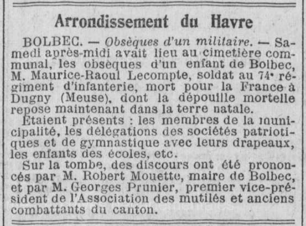 19220814 inhumation lecompte