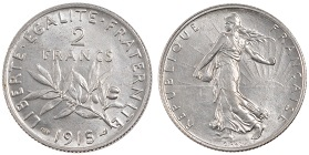 2 francs 1915 semeuse argent