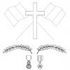 Croix drapeaux medailles