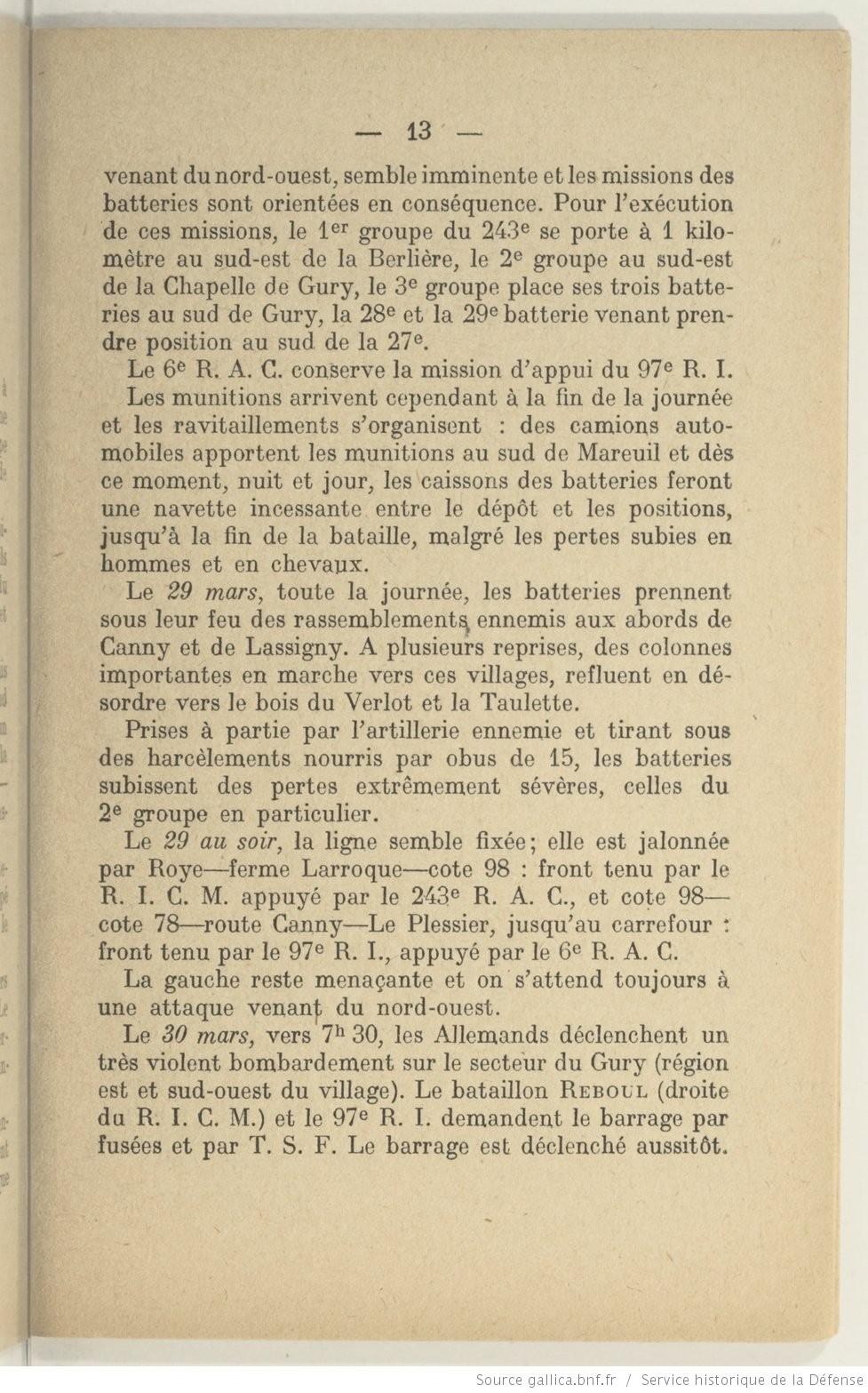 Historique du 243e regiment d artillerie bpt6k6227229k